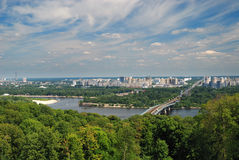 View of the river Dnieper in Kiev Royalty Free Stock Photography