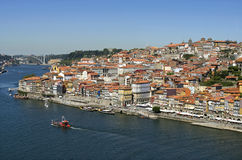 View of river Douro and historic center Porto Royalty Free Stock Images