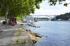 View of the river Douro near the city of Porto Royalty Free Stock Image