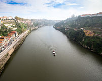 View of the River Douro and waterfronts in the city of Porto. Su Royalty Free Stock Images