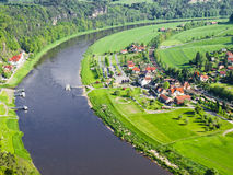 View of the river Elbe, Saxony, Germany Stock Photo