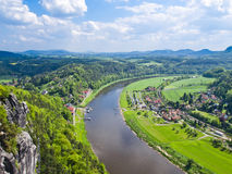 View of the river Elbe, Saxony, Germany Royalty Free Stock Photos