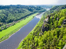 View of the river Elbe, Saxony, Germany Royalty Free Stock Photo