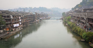 View of the river at Fenghuang Ancient Town in Hunan, China Stock Image