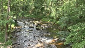 View of the river from a height stock footage