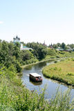 View of the Kamenka river, Russia, Suzdal royalty free stock photos