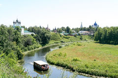 View of the Kamenka river, Russia, Suzdal stock image