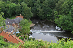 A view of the river, Knaresborough, North Yorkshire Royalty Free Stock Images