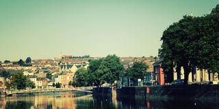 View on the River Lee - vintage effect. Early morning in Ireland. Stock Image