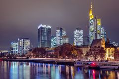 Skyline of Frankfurt am Main. Germany royalty free stock photos