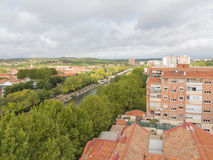View of the river Manzanares Stock Images