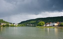 View on river Moezel or Mosel Stock Image