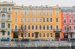 View of the river Moika embankment in St. Petersburg.  Royalty Free Stock Images