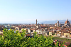 View at river and monumental Florence, Italy Stock Photo