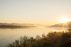 View of river in morning Royalty Free Stock Photography