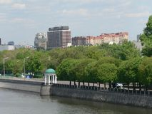 View of the river in Moscow stock photos