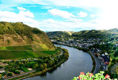 View on river Mosel Royalty Free Stock Photography