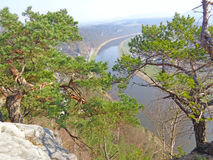 View of the river from the mountain Stock Photography