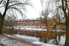 View of the river Mukhavets in Brest Fortress Royalty Free Stock Photography