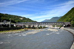 View of the river Mzymta, Krasnaya Polyana, Sochi Stock Photography