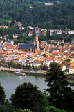 View of River Neckar & city of Heidelberg- Germamy Stock Image