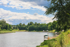 View of the River Neman. Druskininkai Royalty Free Stock Image