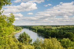 View of the river Neman. Liskiava Stock Photography