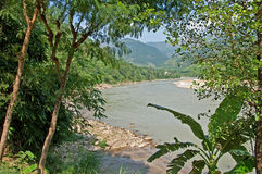View of river in Nepal Stock Photography