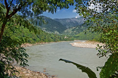 View of river in Nepal Royalty Free Stock Photo
