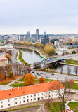 View of the river Neris and city Royalty Free Stock Images