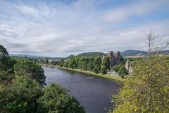 View of River Ness and Inverness, Scotland Stock Images