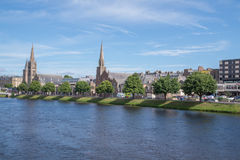 View of River Ness and Inverness, Scotland Royalty Free Stock Photo