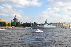 View of the River Neva in St Petersburg Royalty Free Stock Photography