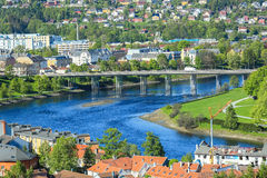 View of the river Nidelva in Trondheim, Norway Stock Image