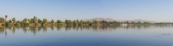 View of river nile in Egypt showing Luxor west bank Stock Images
