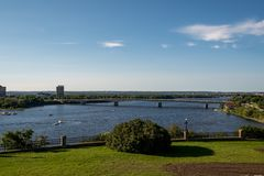 OTTAWA RIVER VIEW ON SUMMER DAY royalty free stock photography