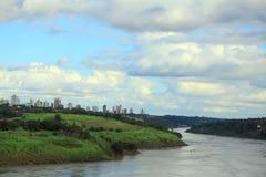 View of river Parana from international bridge Royalty Free Stock Image