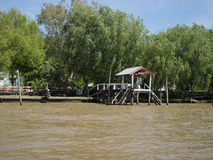 View of the River Plate Delta, Argentina Stock Photo