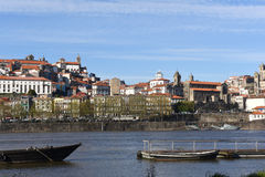 View river and Porto, Royalty Free Stock Images