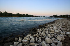 View of river Rhine near Speyer, Germany Stock Images