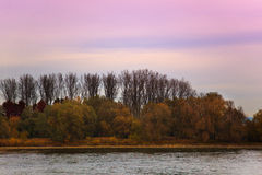 View of river Rhine near Speyer Germany Royalty Free Stock Photos