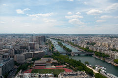 View of the River Seine, captured from  the Eiffel Tower, Paris Stock Photography