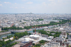 View of the River Seine, captured from  the Eiffel Tower, Paris Royalty Free Stock Photos