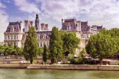 View of the River Seine and most beautiful cities in the world - Stock Image