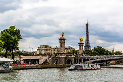 View of The river Seine Royalty Free Stock Photography
