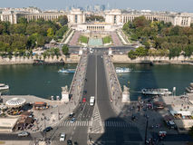 View of river Seine, Trocadero and La Defense from the Eiffel tower. Paris Stock Photo
