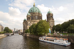 View at river Spree and Berlin cathedral Stock Photography