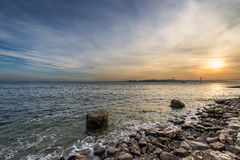 View of the River Tagus in Lisbon. Portugal Royalty Free Stock Image
