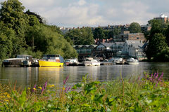 View of River Thames. In Richmond south west of London Stock Image