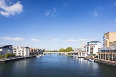 View of River Thames with buildings Stock Image